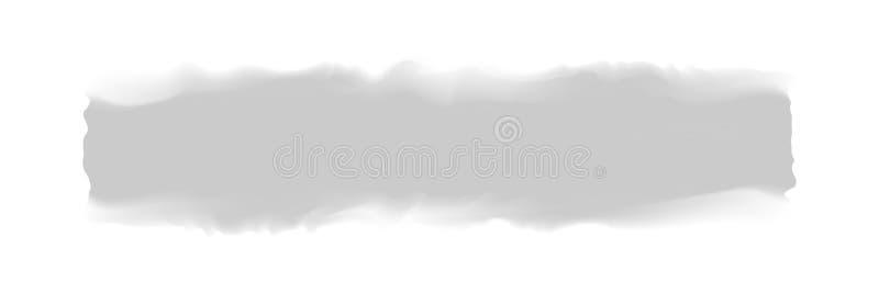 Banda grigia dipinta in acquerello su fondo bianco pulito, colpi grigi della spazzola dell'acquerello, morbidezza digitale del pe royalty illustrazione gratis