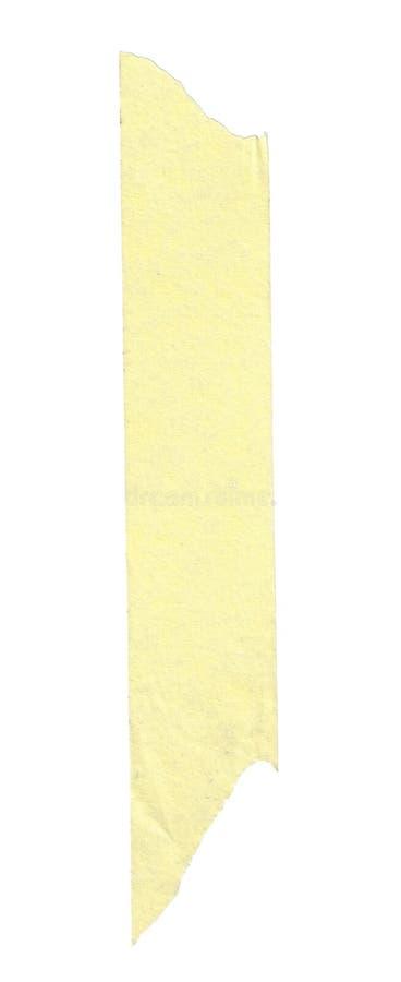 Banda lunga di di nastro di carta giallo fotografia stock libera da diritti