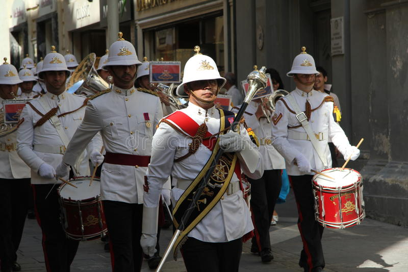 Banda militar maltesa fotografia de stock