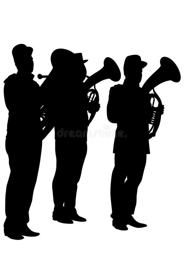 Banda militar tres ilustración del vector