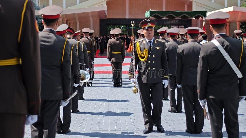 Banda militare dell'Uzbekistan fotografie stock