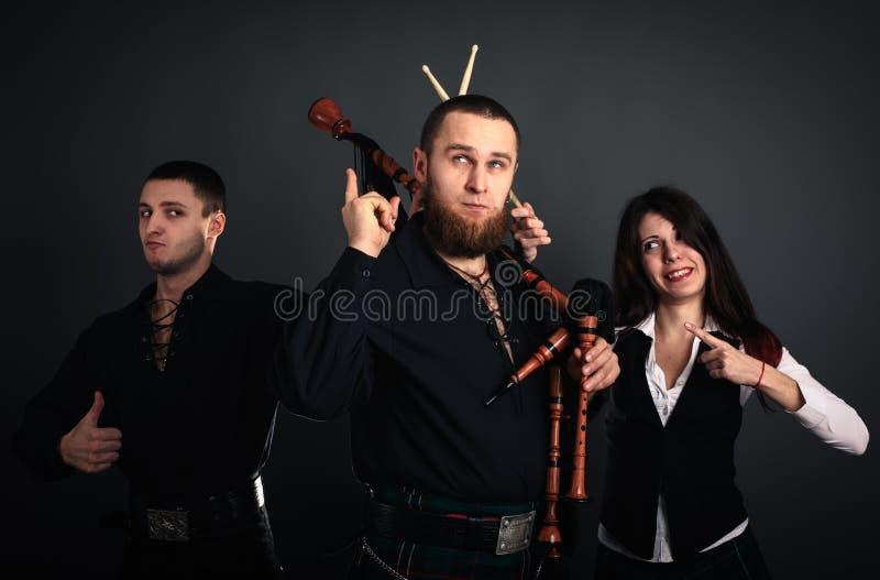 Banda musical escocesa imágenes de archivo libres de regalías