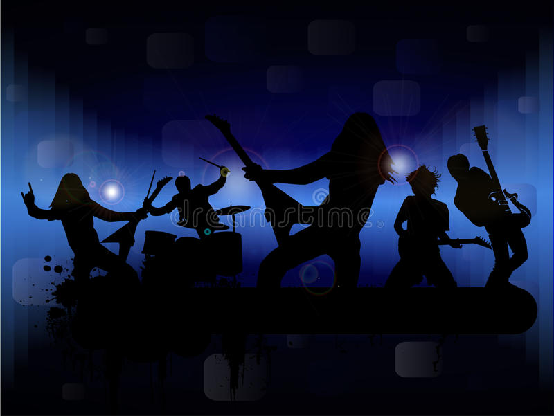 Banda rock illustrazione vettoriale