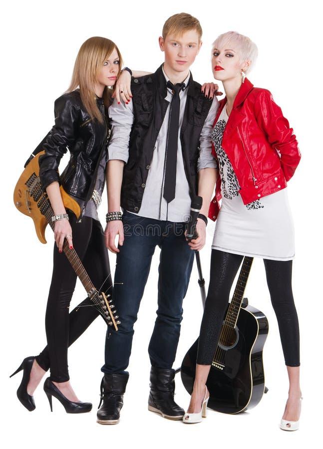 Banda rock adolescente fotografia stock libera da diritti