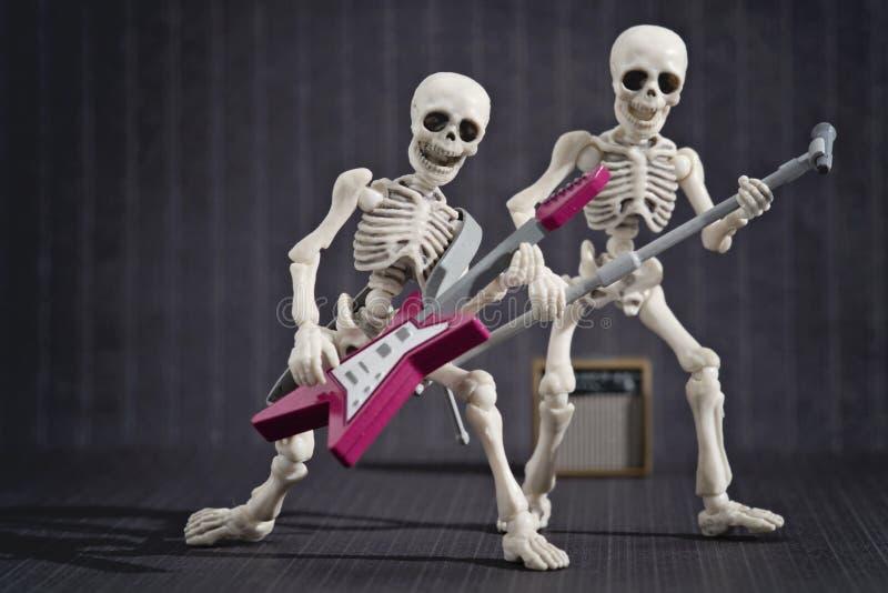 Banda rock di scheletro fotografie stock libere da diritti