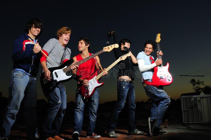 Banda rock teenager immagini stock