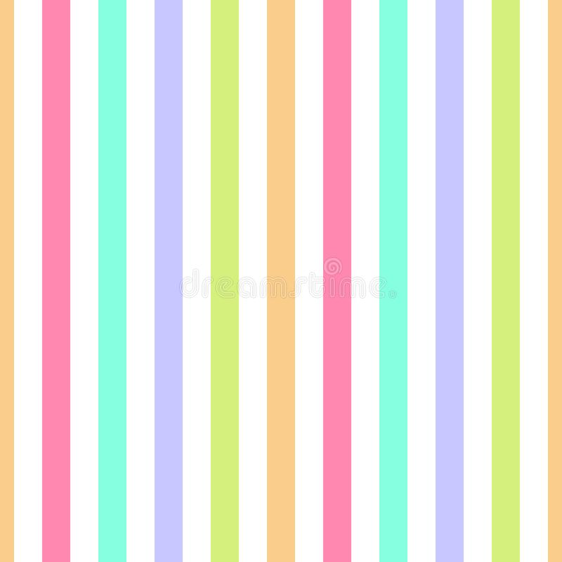 Banda senza cuciture porpora, rosa, colori pastelli verdi e gialli del modello Illustrazione verticale di vettore del fondo dell' illustrazione di stock