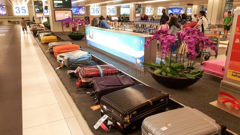 Banda transportadora del equipaje fotografía de archivo libre de regalías