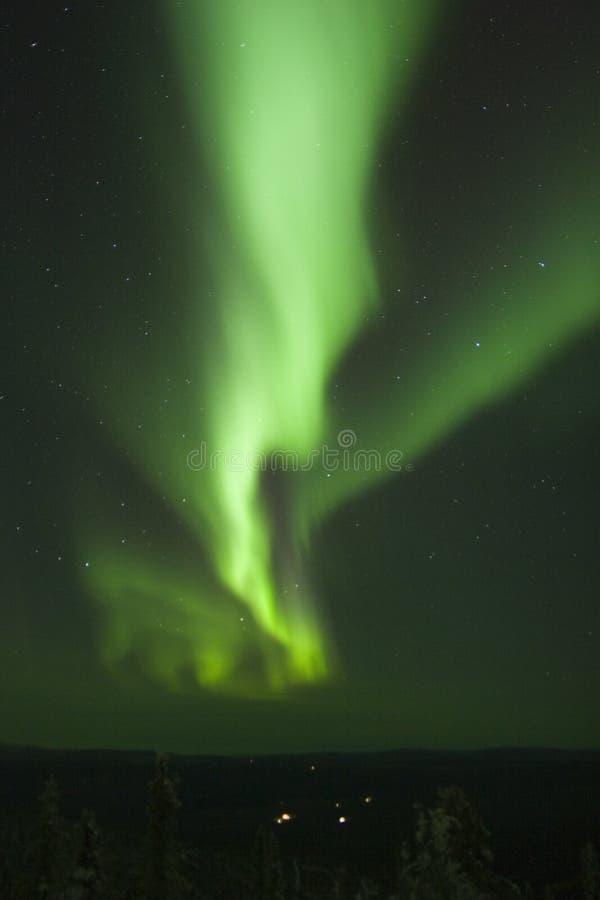 Banda verticale di Borealis dell'aurora fotografia stock libera da diritti