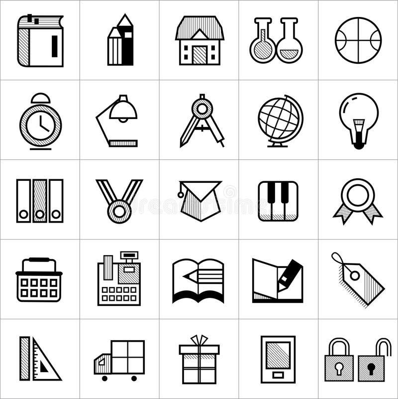 Bandaffärssymboler 002 stock illustrationer
