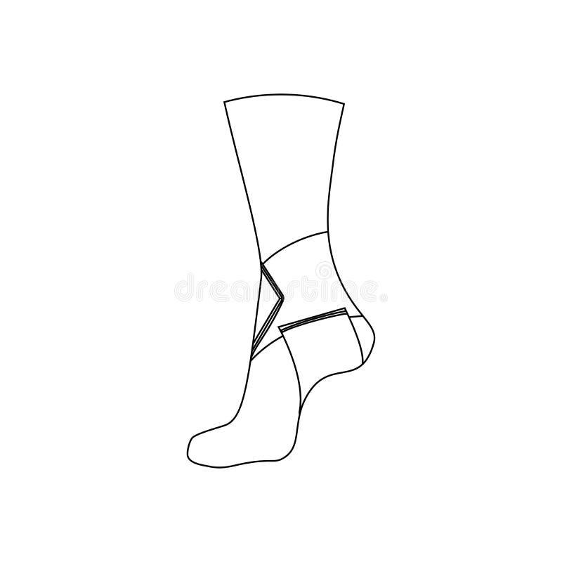Bandage élastique pour l'articulation de la cheville illustration libre de droits