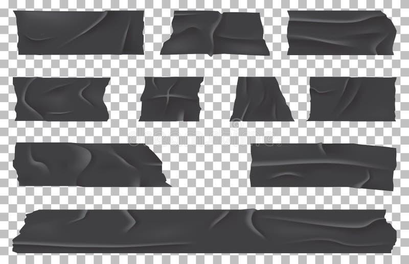 Bandage adhésif écossais ou déchiré, bande collante illustration de vecteur