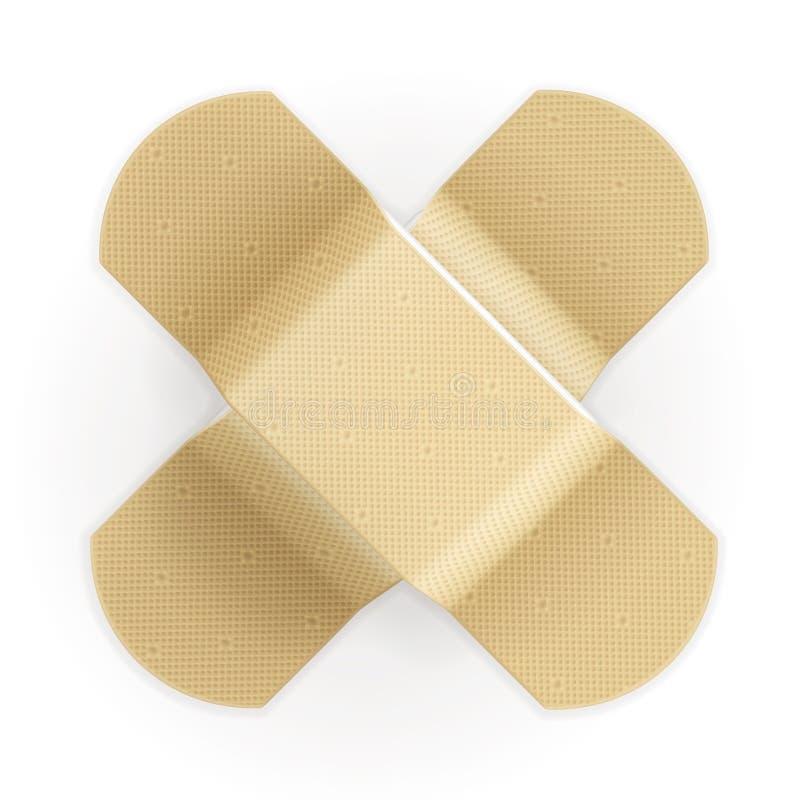 Bandage adhésif illustration de vecteur