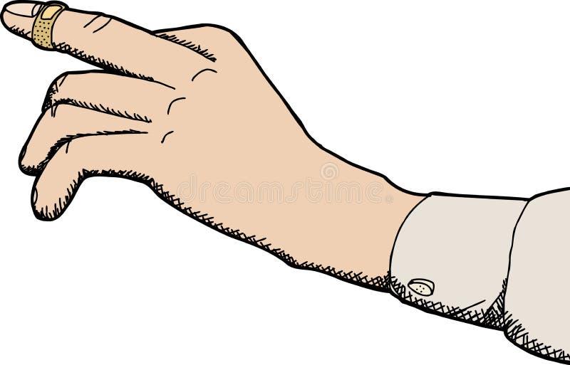 Bandage adhésif sur le doigt illustration stock