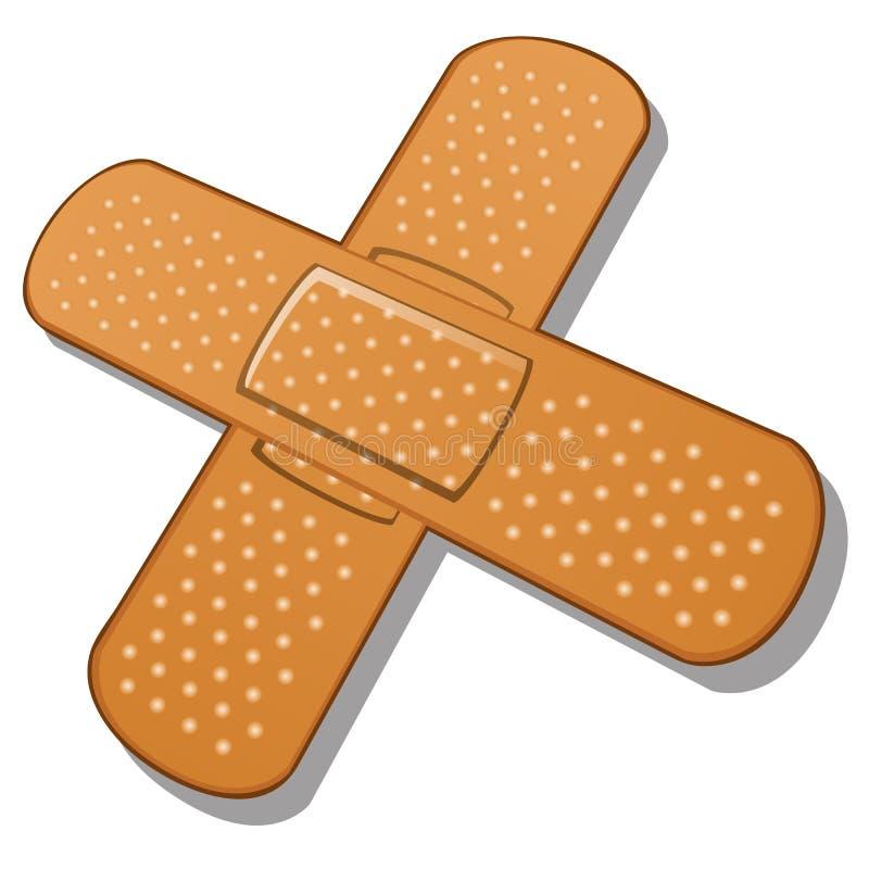 Bandage adhésif sur un fond blanc Vecteur illustration stock