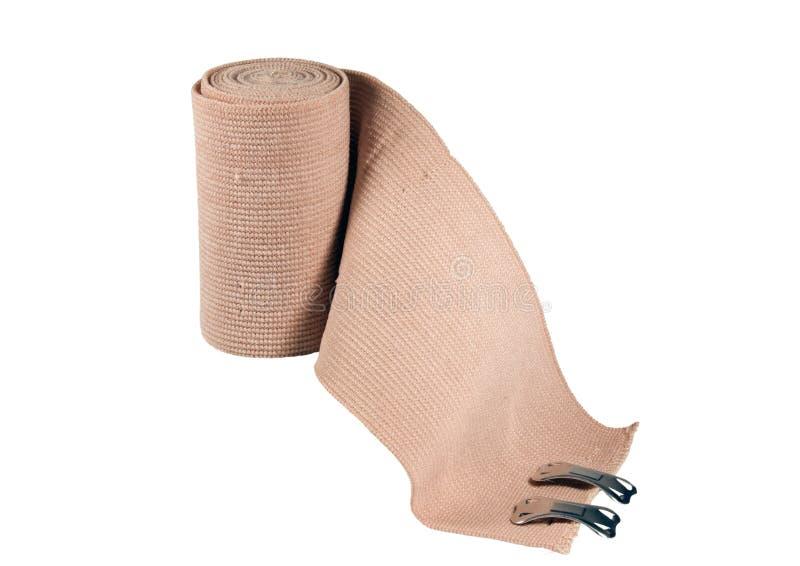Bandage d'as d'isolement avec le chemin image stock