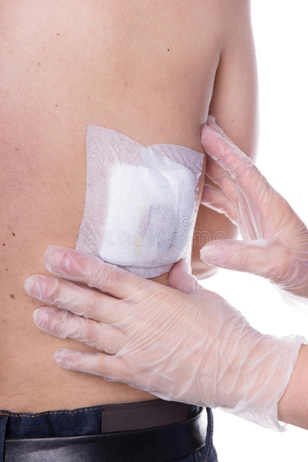 Bandage de blessure image stock