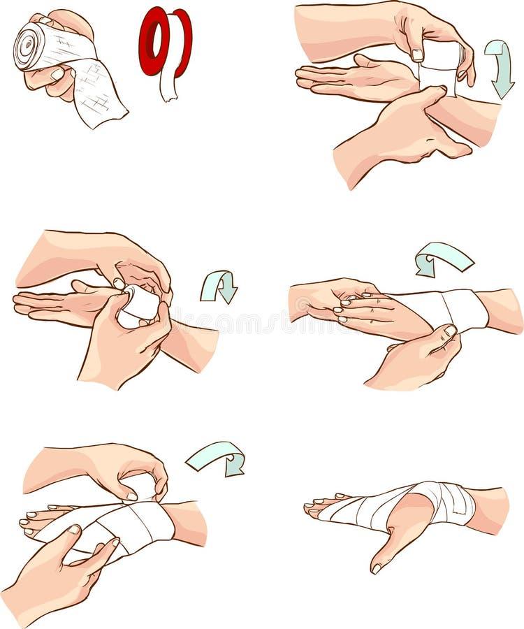Bandage de main illustration de vecteur