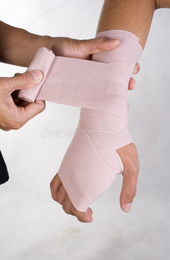 Bandage de poignet photos stock