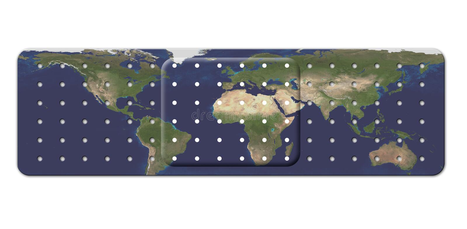 Download Bandage with Earth Map stock illustration. Illustration of ecological - 32995862