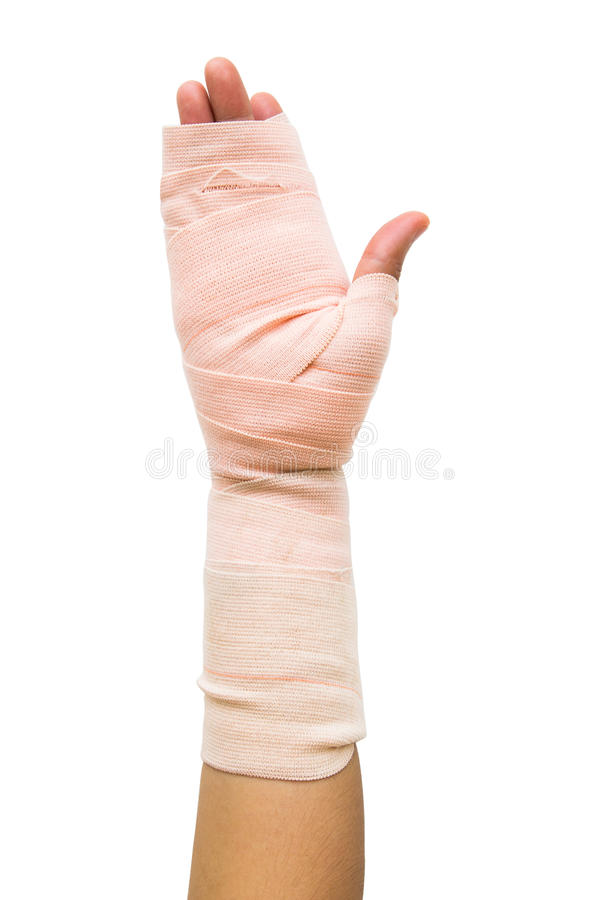 Bandage for hand royalty free stock photos