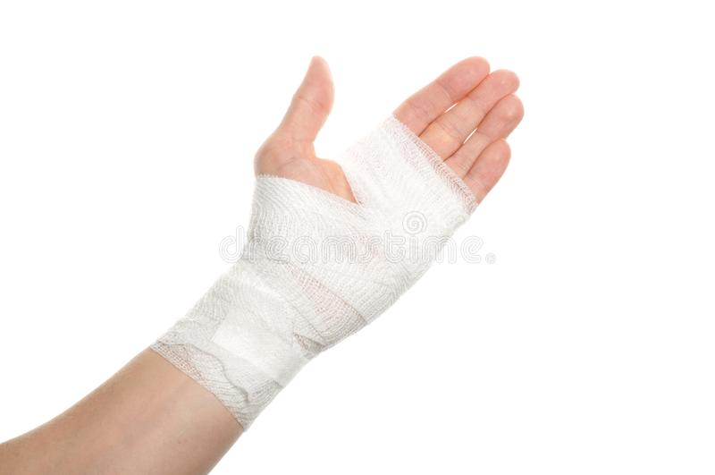 Bandage on a hand stock image