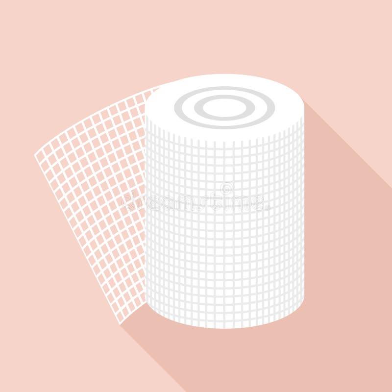 Bandage icon, flat style. Bandage icon. Flat illustration of bandage vector icon for web vector illustration
