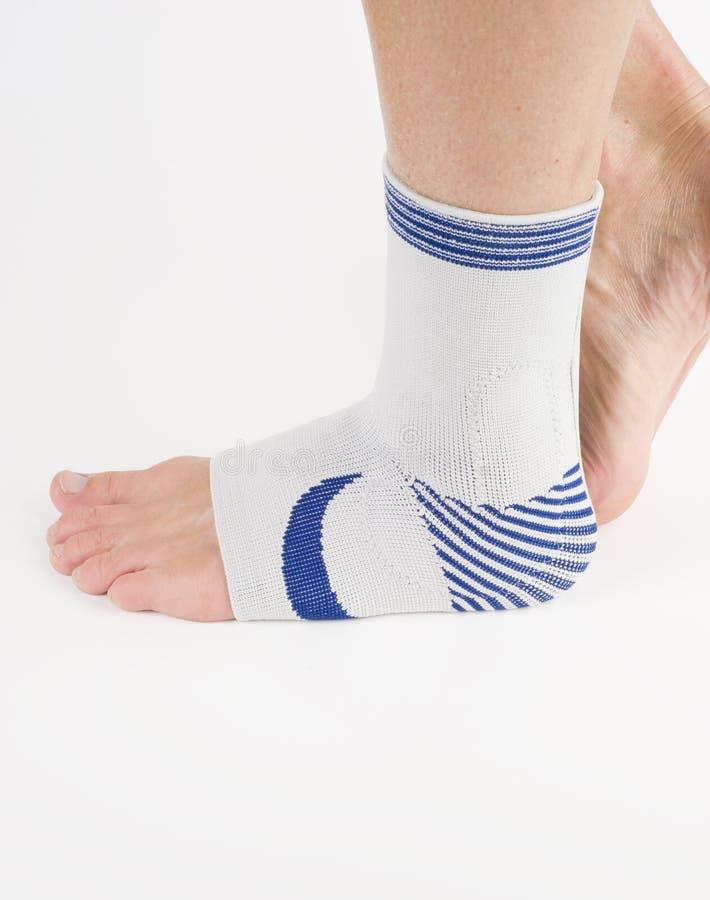Bandage médical, support de pied photos stock