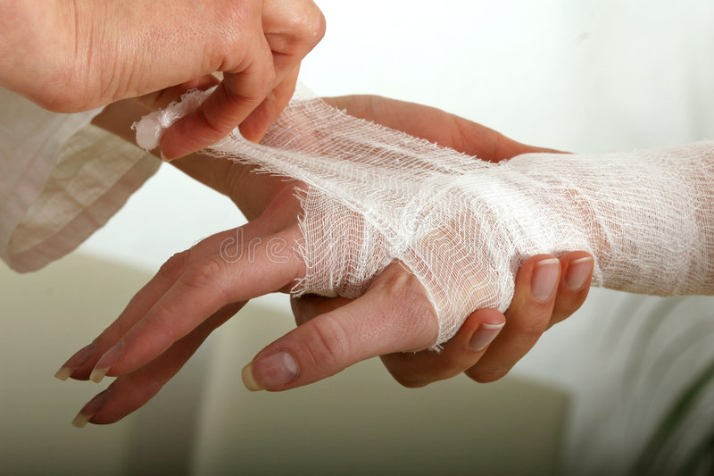 Bandage pour la main images stock
