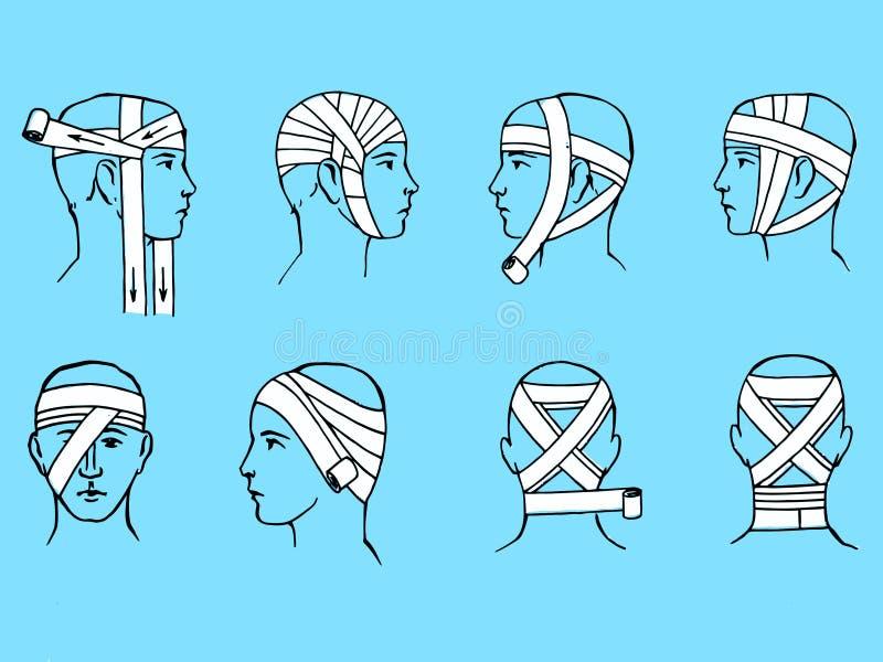 Bandage principal illustration libre de droits