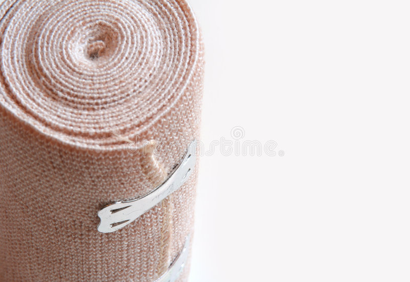 Bandage roll. Isolated on a white background royalty free stock images