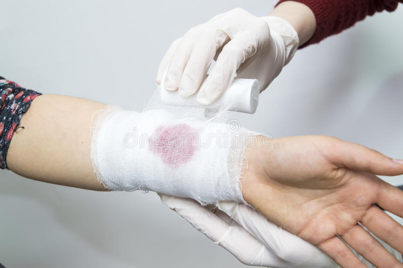 Bandage techniques royalty free stock photography