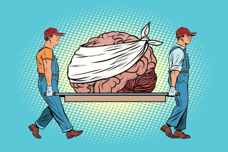 Bandaged涉及脑子修理 库存例证