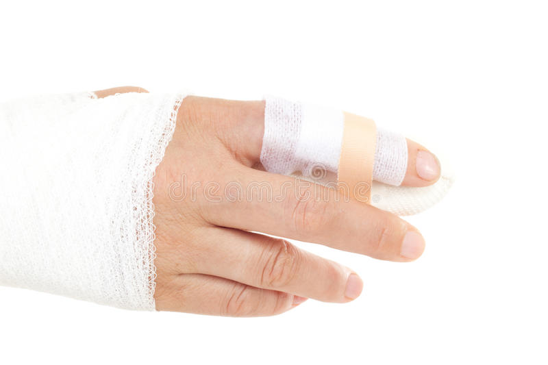 Download Bandaged Hand To Prevent Infection Stock Image - Image of gash, accident: 32864211
