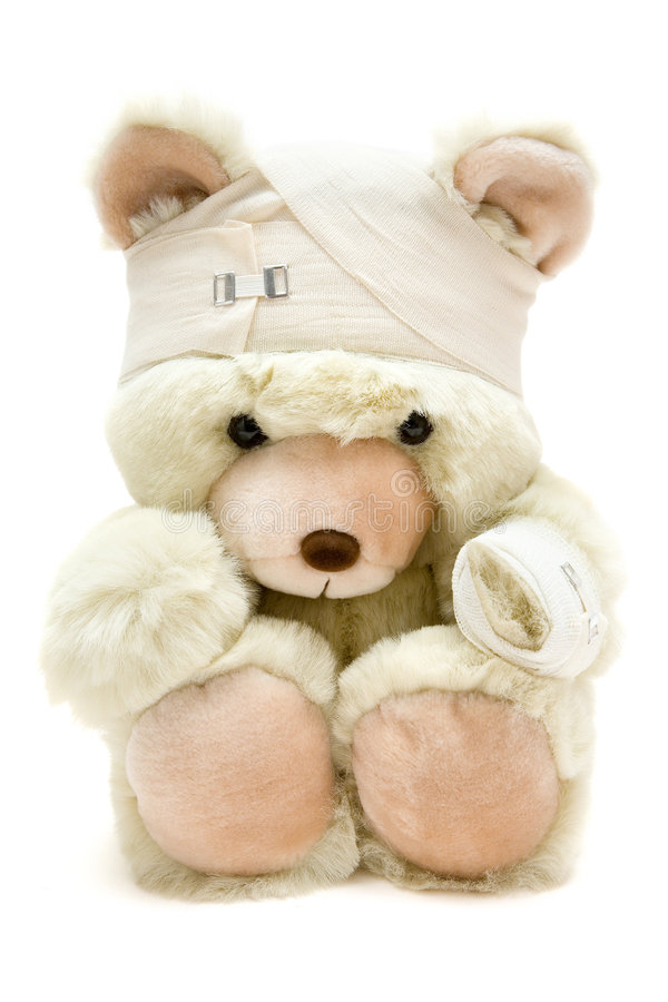 Download Bandaged Teddy Royalty Free Stock Image - Image: 4209946