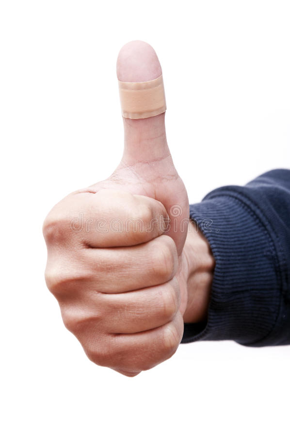 Download Bandaged Thumb Up stock photo. Image of care, broken - 22665092