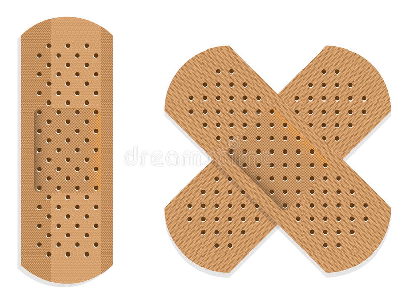 Bandages. Set of bandages isolated on white vector illustration