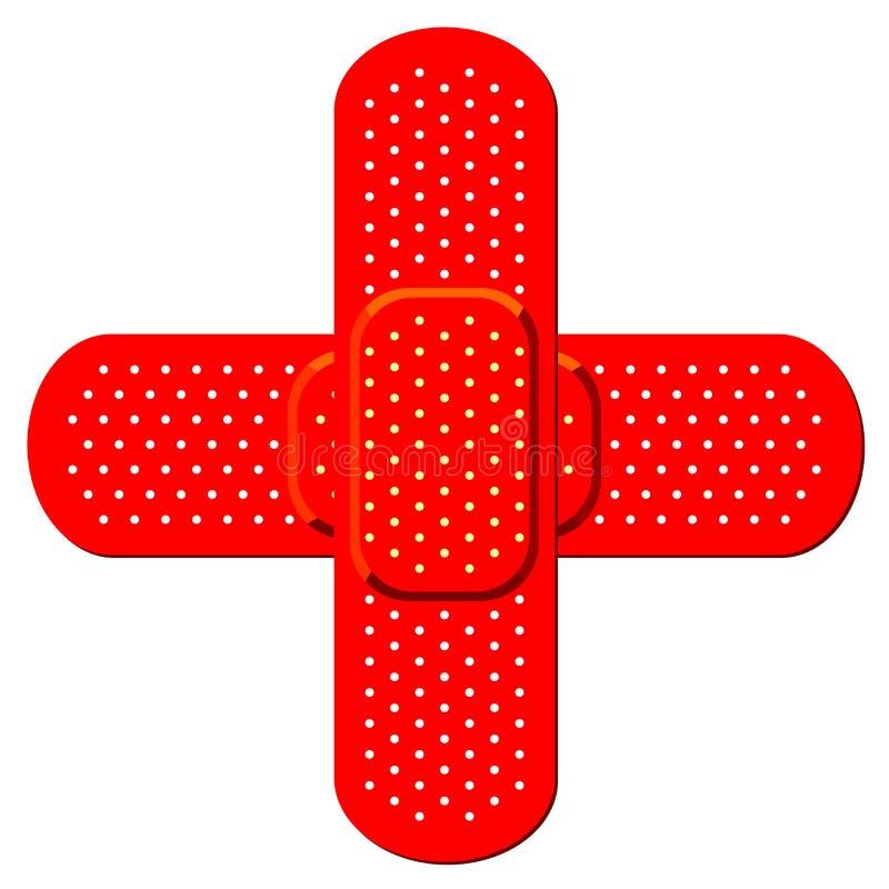 bandaid διαγώνιο κόκκινο ελεύθερη απεικόνιση δικαιώματος