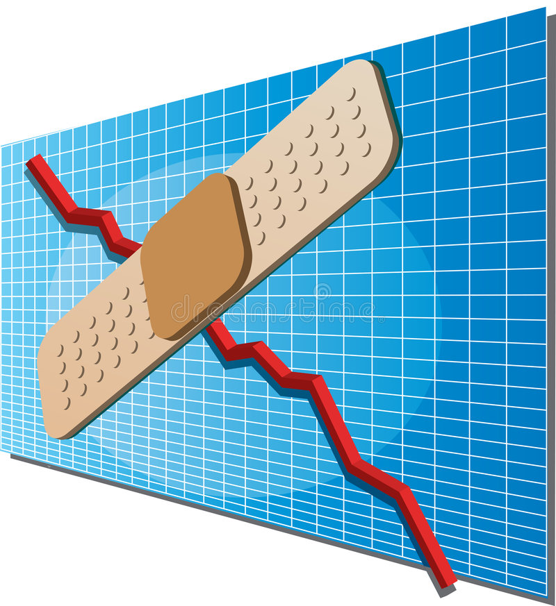 bandaid финансы диаграммы иллюстрация штока