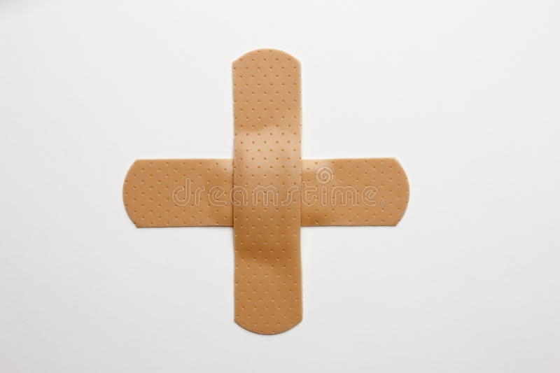 Bandaid cross royalty free stock photography