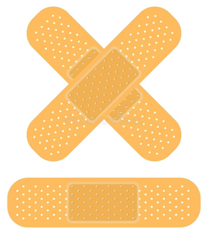 Bandaid sur le blanc illustration stock