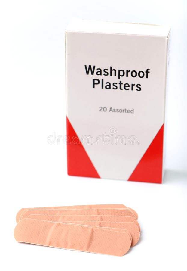Bandaids/Plasters stock images