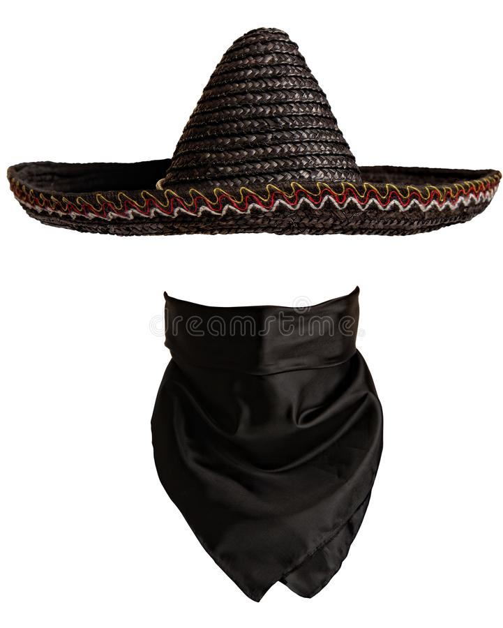 Bandana мексиканской шляпы стоковые фотографии rf