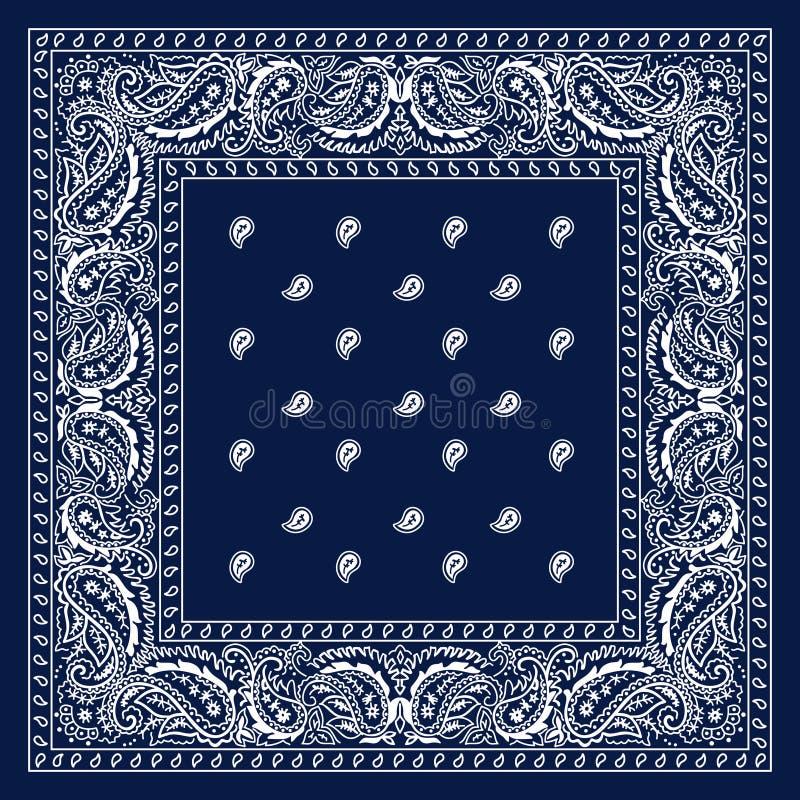 Bandana bleu illustration libre de droits