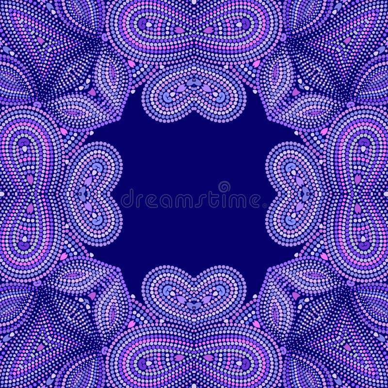 Bandana elegant met punten Vectordrukvierkant royalty-vrije illustratie
