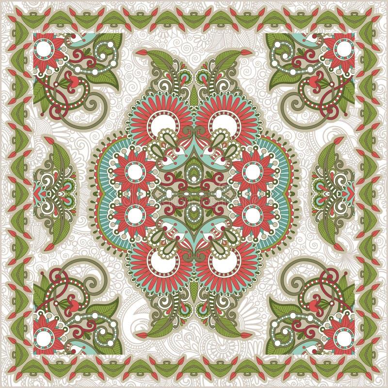 Bandana floral ornamental tradicional de Paisley ilustración del vector