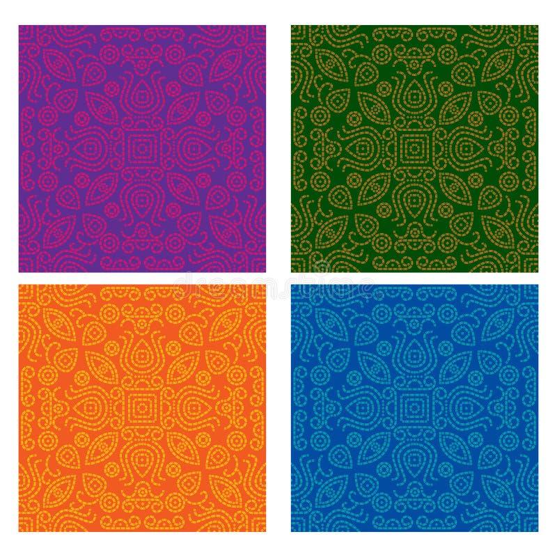 Bandana/het naadloze patroon van Bnadhani stock illustratie