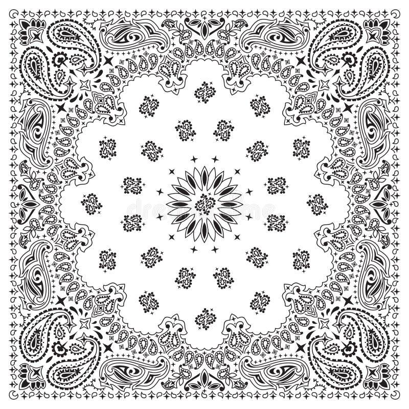 bandana-wit royalty-vrije illustratie