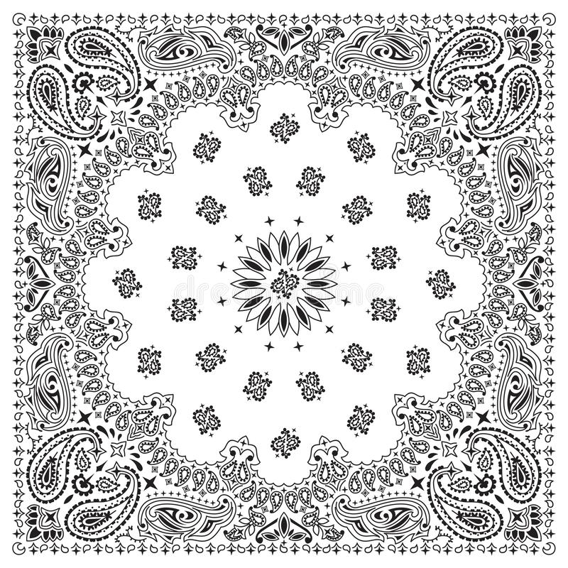 bandanawhite royaltyfri illustrationer