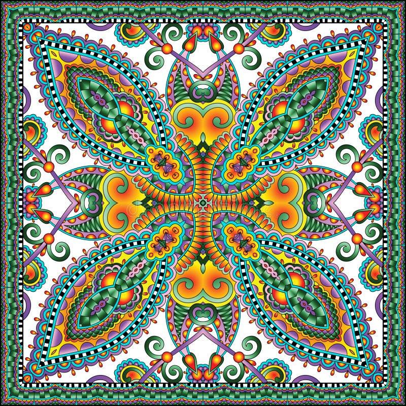 Bandanna floreale ornamentale tradizionale di Paisley illustrazione di stock